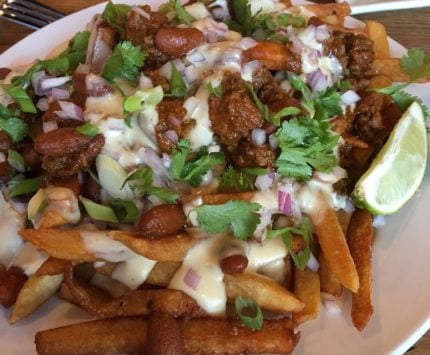 Chili cheese fries at Griggsby