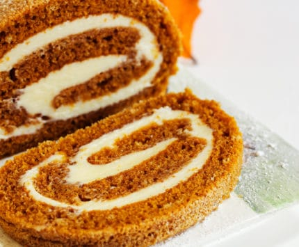 pumpkin roll stock image from Getty Images