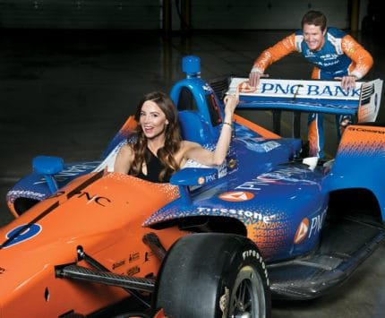 Emma Dixon and Scott Dixon in the PNC Bank IndyCar