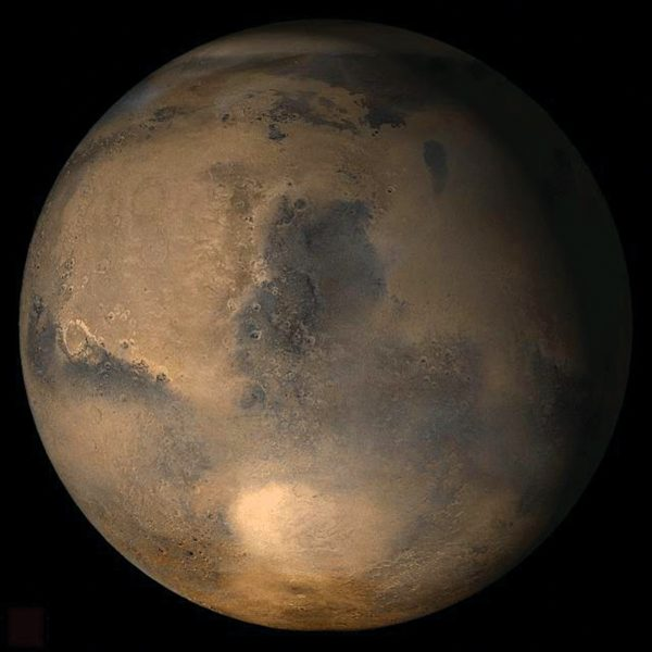 Image of the Martian planet